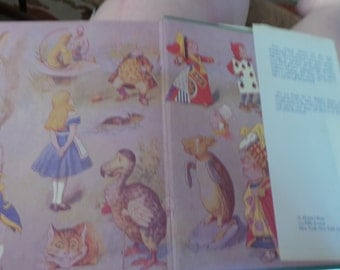 alice adventures in wonderland rabbit  lewis carrol as is read me a bedtime story childs nursery wall candy frame  classic book from series
