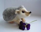 Needle felted hedgehog.