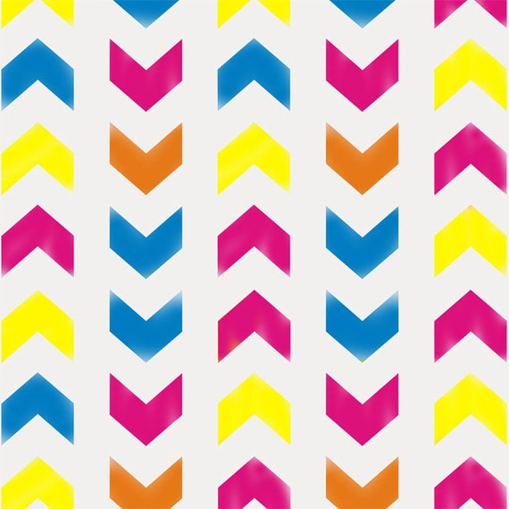 Chevron pattern stencil chevron painting stencil by for Chevron template for painting