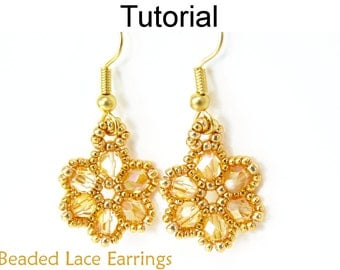 Christmas Earrings Beading Tutorial Double by SimpleBeadPatterns