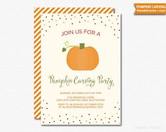Pumpkin Carving Party Invitation Pumpkin Party Pumpkin Invitation Halloween Party Halloween Invitation Printable Digital Invite Fall Autumn