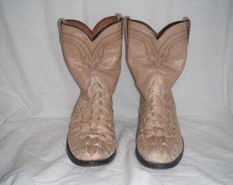 Vintage El General crocodile skin boots