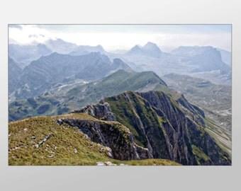 Jagged Mountain Range Canvas Art, Mountain Range Wall Art, Large Mountains Canvas Print, Photograph, Canvas Print, Home Art, Wall Art Canvas