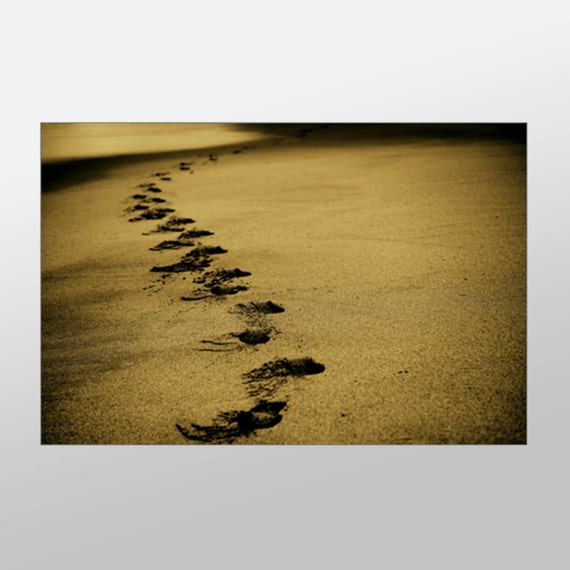 Footprints Wall Decor : Footprints in sand canvas art wall by xddesigns