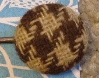 Vintage Button Bobby Pin