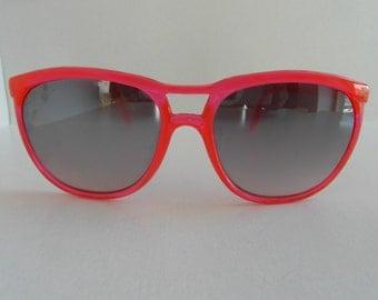 Vintage Translucent Neon Pink Sunglasses
