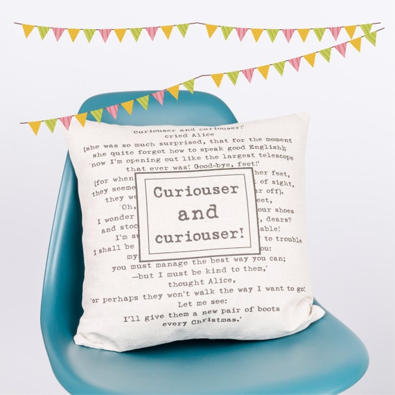 Curiouser and Curiouser | Bookish Throw Pillows