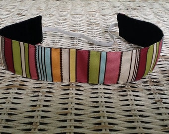 Multi Colored Striped Headband - Wide Womens Hair Band