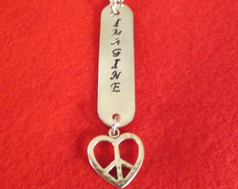 John Lennon Imagine necklace
