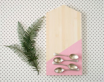 CHRISTMAS SALE! Scandi Style Platter, Serving Board, Blush Pink and Blonde Bamboo, Large House Board, Eco Wedding Gift, Christmas Gift