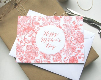Letterpress Card 'Happy Mother's Day'