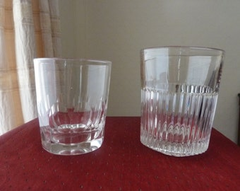 2 antique Victorian  whisky/water tumblers