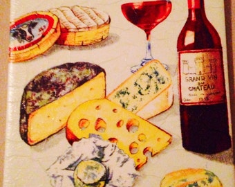 Cheese and Wine trivet