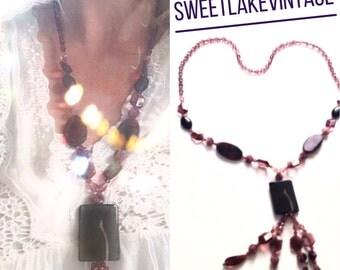 Purple chunky necklace