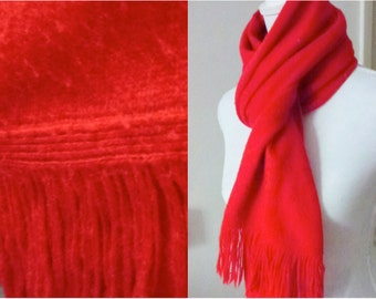 red warm scarf
