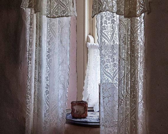 Photo Of Irish Lace Curtains Ireland Photography Antique