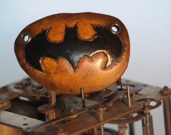 steampunk leather eye patch , batman 3  (made to order)