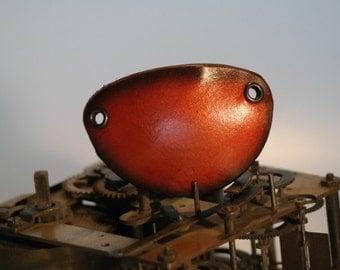 steampunk leather eye patch , plain 16