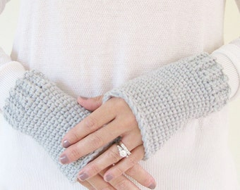 Texting Gloves | Wrist Warmers Crochet | Crochet Handwarmers | Knit Fingerless Gloves