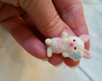 Tiny Fuzzy Bunny Pin