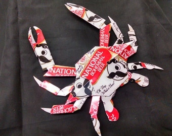 National Bohemian Crab. Made from National Boh  cans.