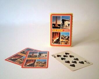Vintage Deck of Cards In Original Plastic Box, Australian Pack of Cards of Alice Springs Central Australia