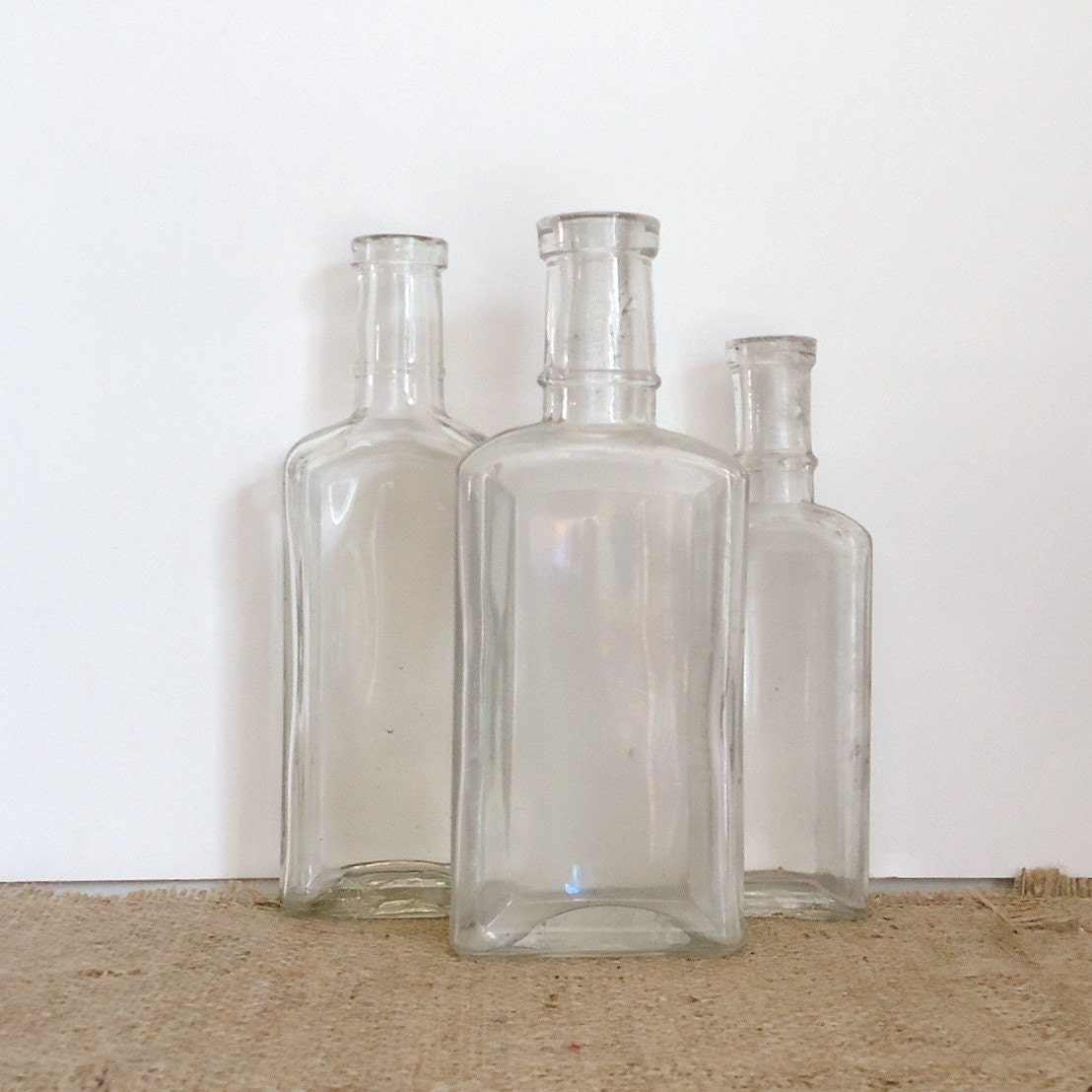 Vintage apothecary bathroom decor old bottles medicine for Bathroom bottles