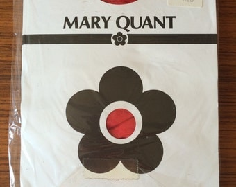 original Mary Quant vintage red stockings