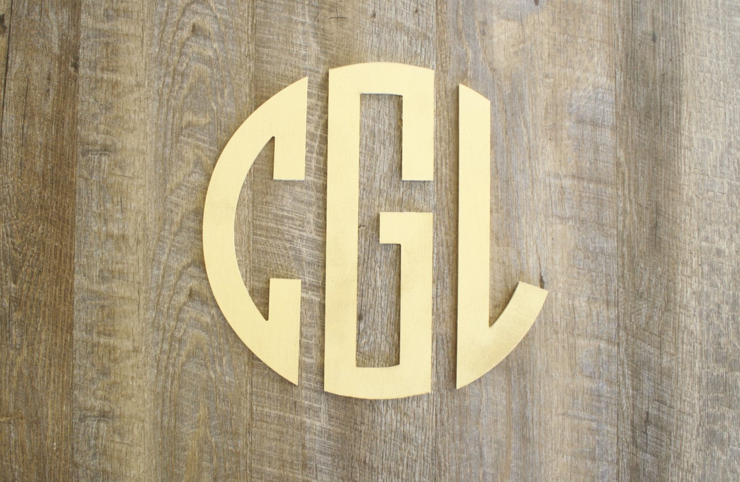 Wooden Monogram Letters Painted Wall by TheGreenGiftCompany