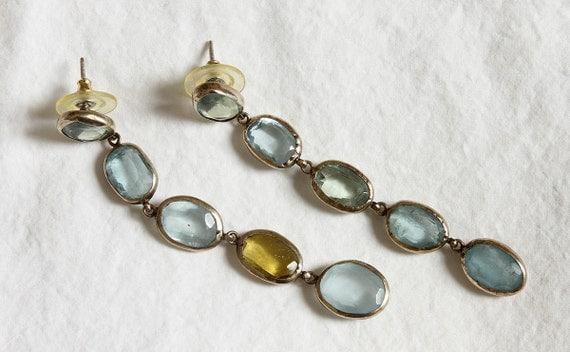 Pippa Small 18 carat yellow gold and labradorite drop earrings