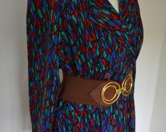 Vintage 1980s dress, size 12 - 14