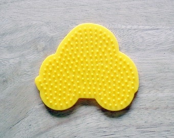 Perler Bead Yellow Car Pegboard, Ironing Paper, Instructions, Craft Supply, Church Crafts, School Crafts, Bead Crafting Supplies