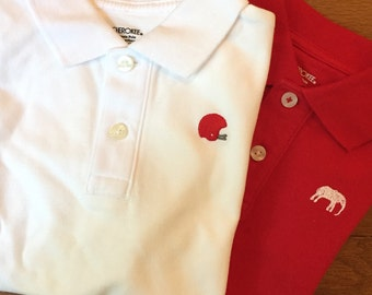 University of Alabama Game day Polo Shirt with Embroidery Designs
