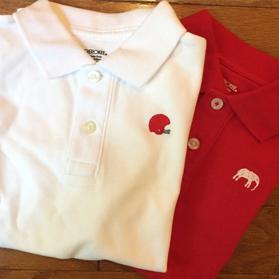 University of alabama game day polo shirt with embroidery for University of alabama polo shirts
