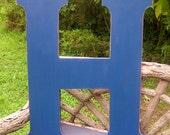 Wooden Letters 30 inch letter H Navy Distressed Wedding Guest Book Decor shabby chic style