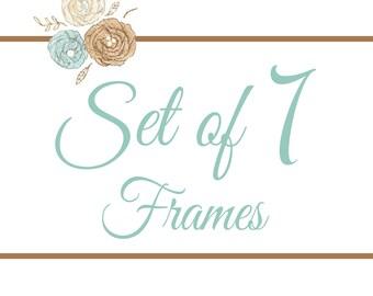 Set of 7 Frames- You Pick Any 8x8 Design