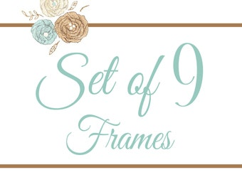 Set of 9 Frames- You Pick Any 8x8 Design
