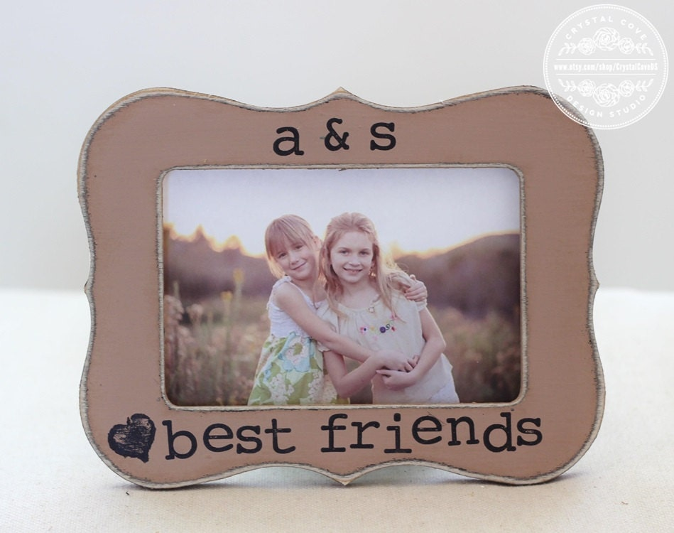 Best Friend Picture Frame Gift Custom Rustic Distressed