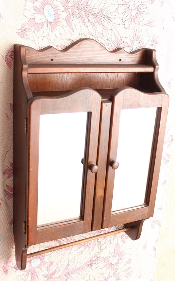 wooden medicine cabinets for bathrooms antique wooden bathroom medicine cabinet by dankvintagefinds 24731