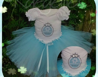Ice princess elsa inspired baby tutu dress. Age 3-6 months