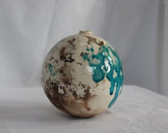 White and Blue Earth Jar