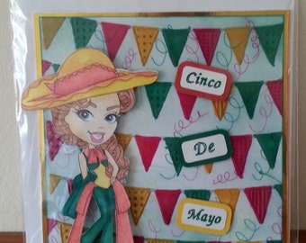 6x6 Size Cinco De Mayo Occasion Card