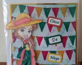 6x6 Size Cinco De Mayo Occasion Card
