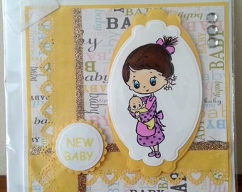 6x6 Size New Baby Card
