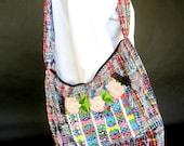 Colorful Boho Over the Shoulder Hippie Bag