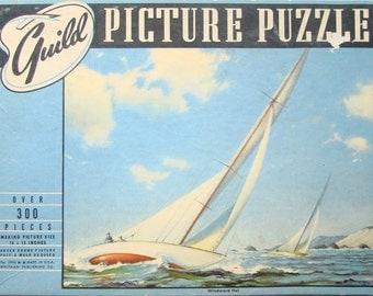 Vintage Guild Picture Puzzle, Windward Ho!