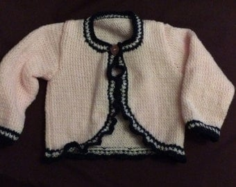 Pink and Navy Bolero Jacket A31