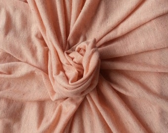 Linen Blend JERSEY Knit Fabric By the Yard - Salmon (Pink) 6/15