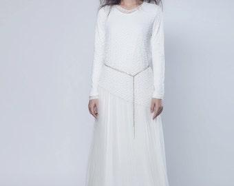 Beautiful White Carnation Dress