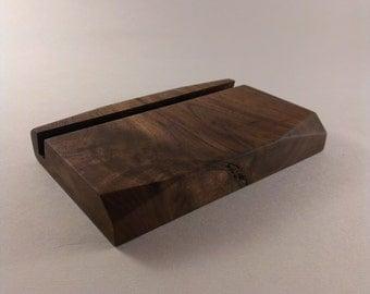 Geometric Ipad Stand - Walnut